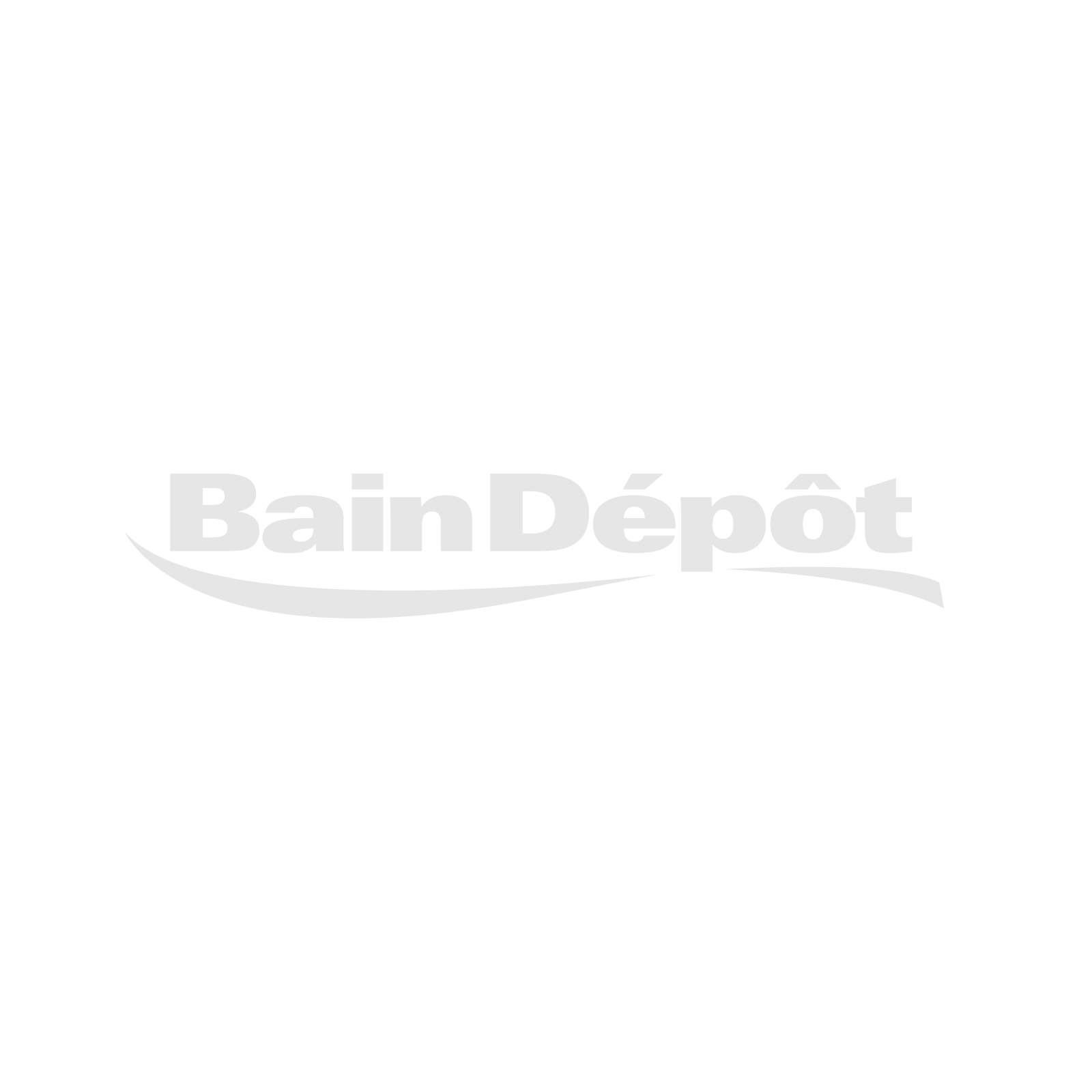Matte white linen cabinet on legs with 2 doors and chrome handles
